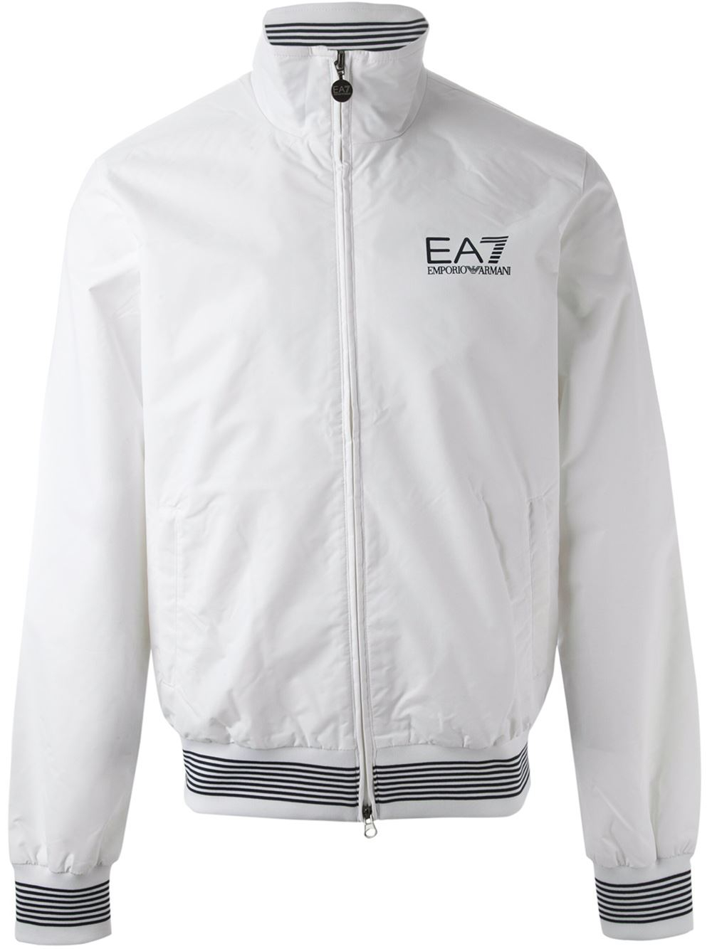 043d3dd984769b Lyst - Emporio Armani Zipped Logo Windbreaker in White for Men