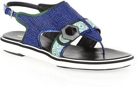 Nicholas Kirkwood Thong Sandal in Blue - Lyst