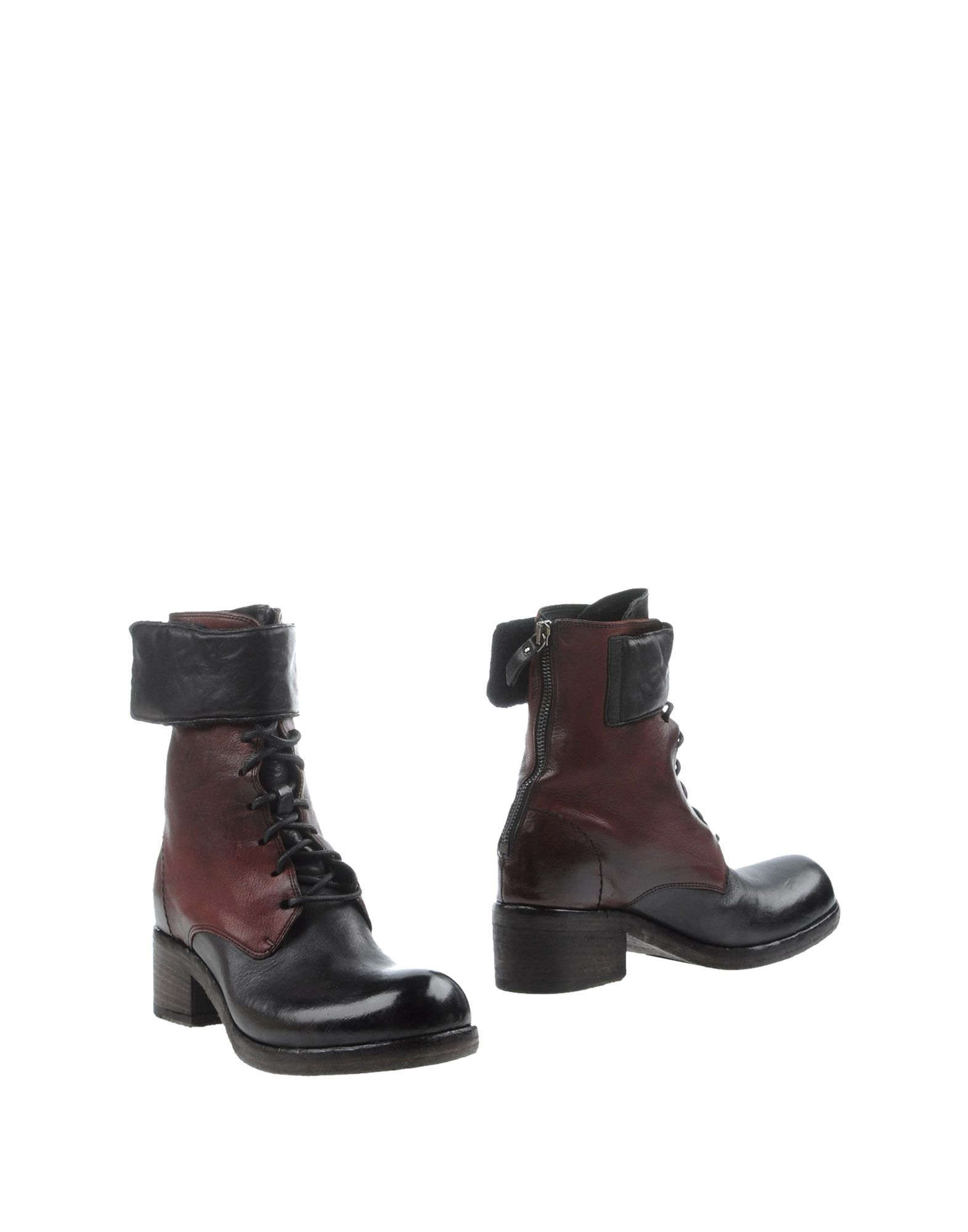 vic mati ankle boots in purple maroon lyst. Black Bedroom Furniture Sets. Home Design Ideas