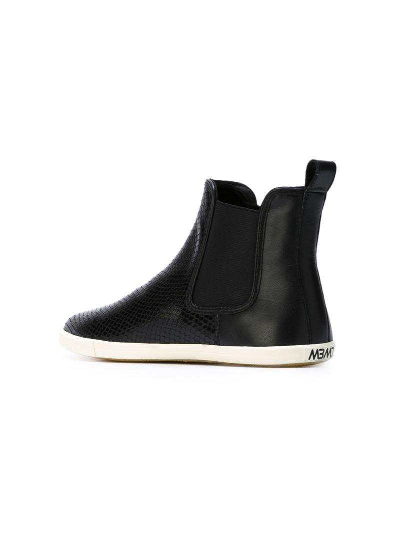 Marc by marc jacobs Slip-on Ankle Boots in Black | Lyst