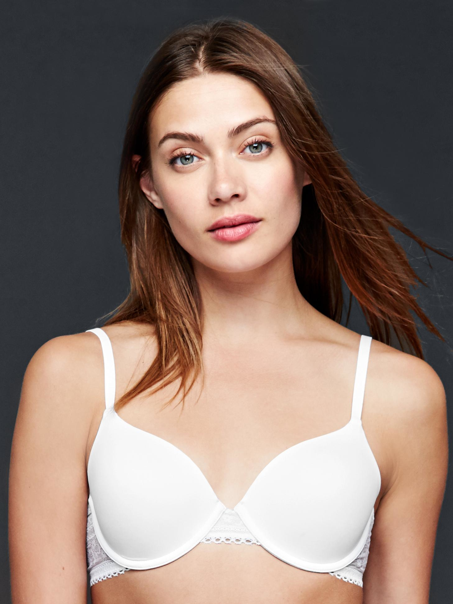 Gap New Favorite T Shirt Lace Bra In White Lyst