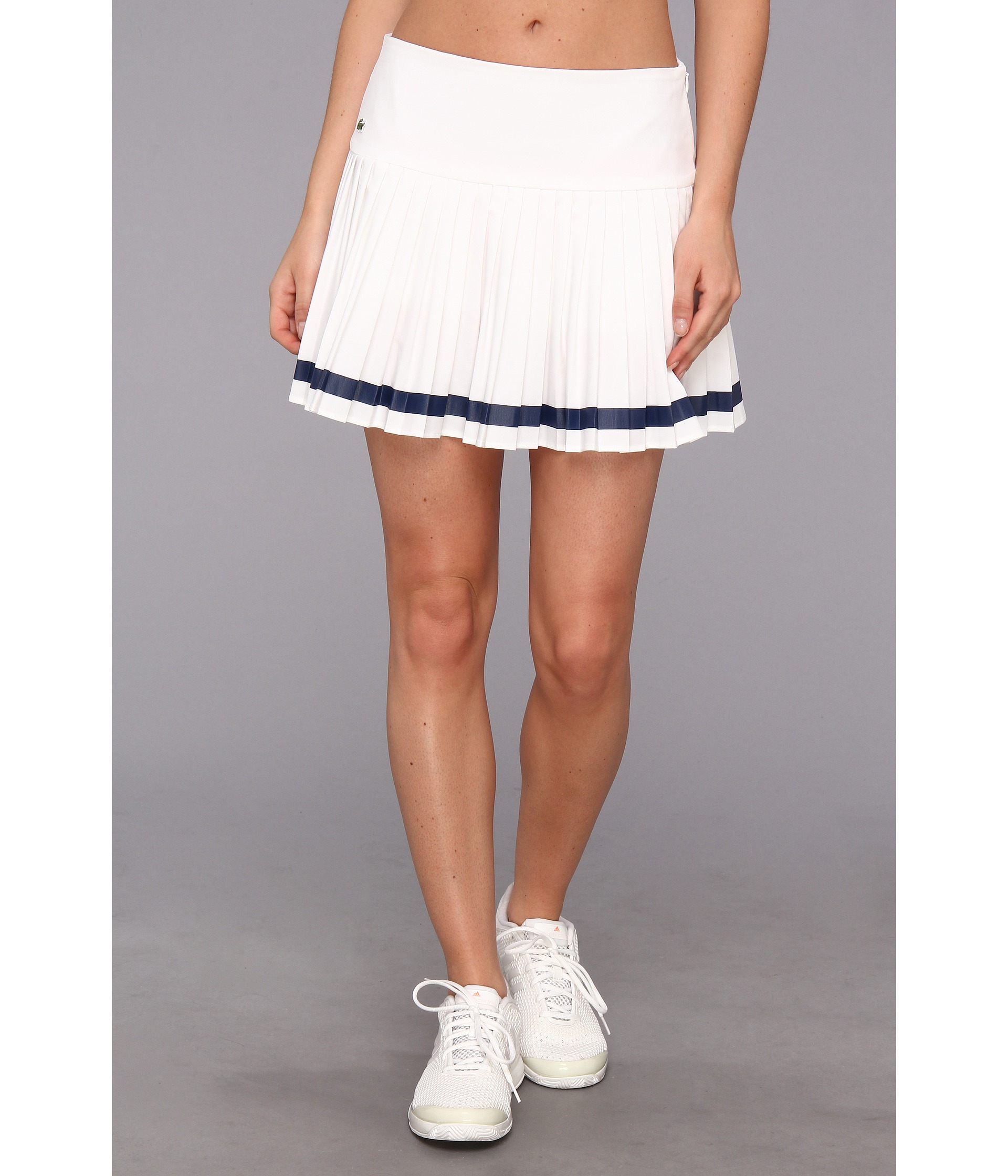 Lacoste Technical Pleated Skirt with Built in Short in White | Lyst