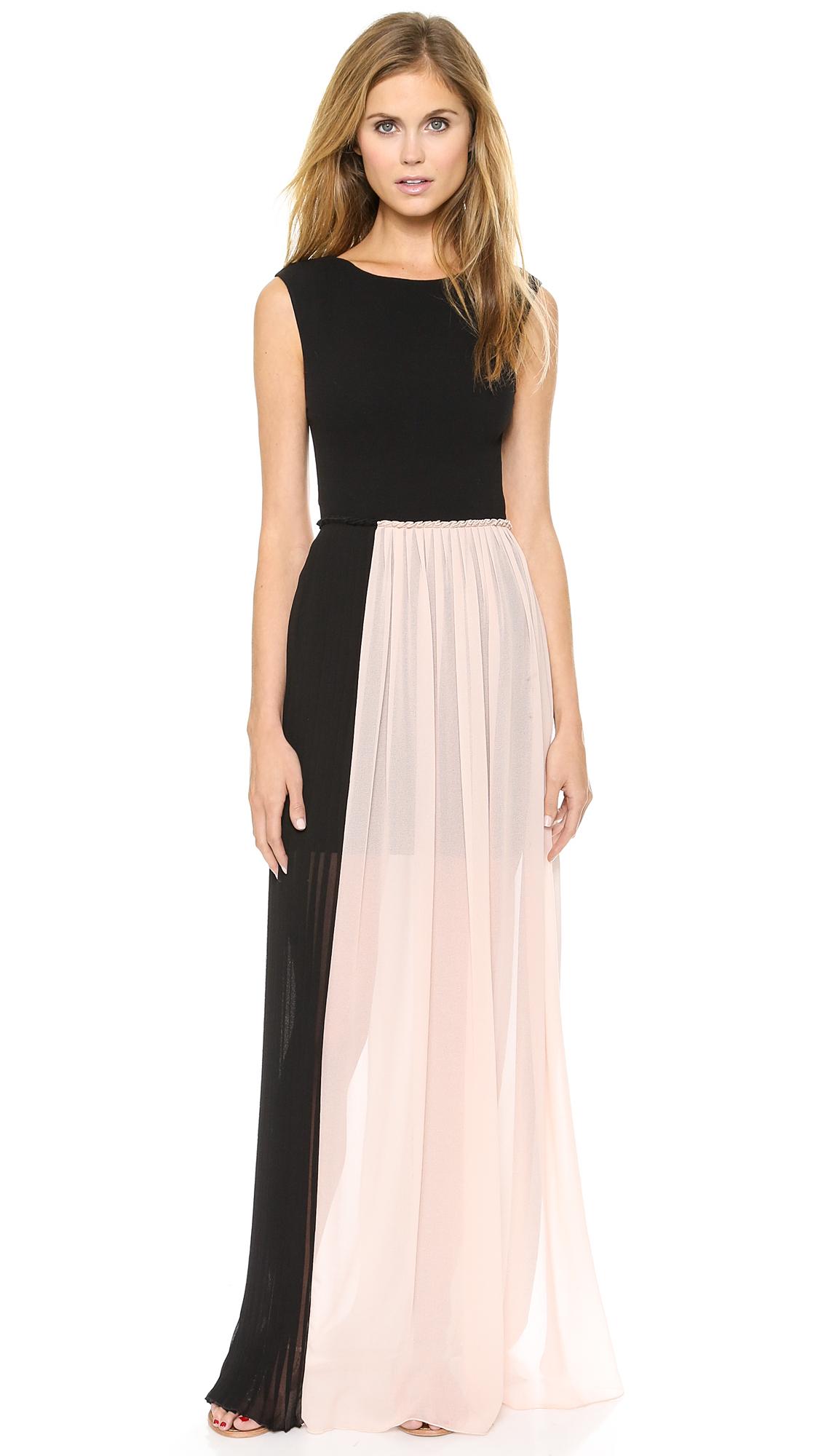 a56d6dbdd17 Alice + Olivia Alice + Olivia Reid Maxi Dress - Black in Black - Lyst