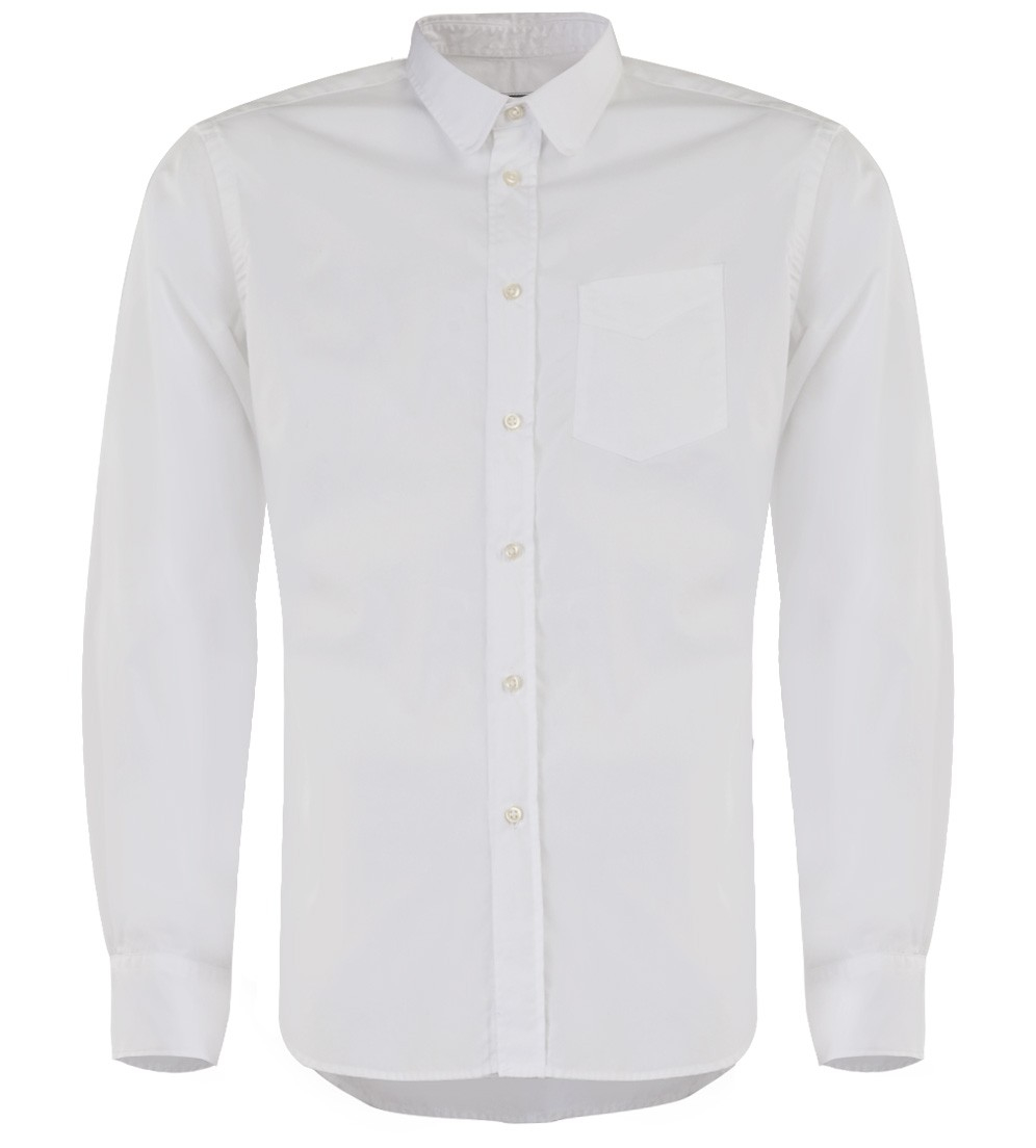 Officine Generale White Button Down Shirt In White For Men