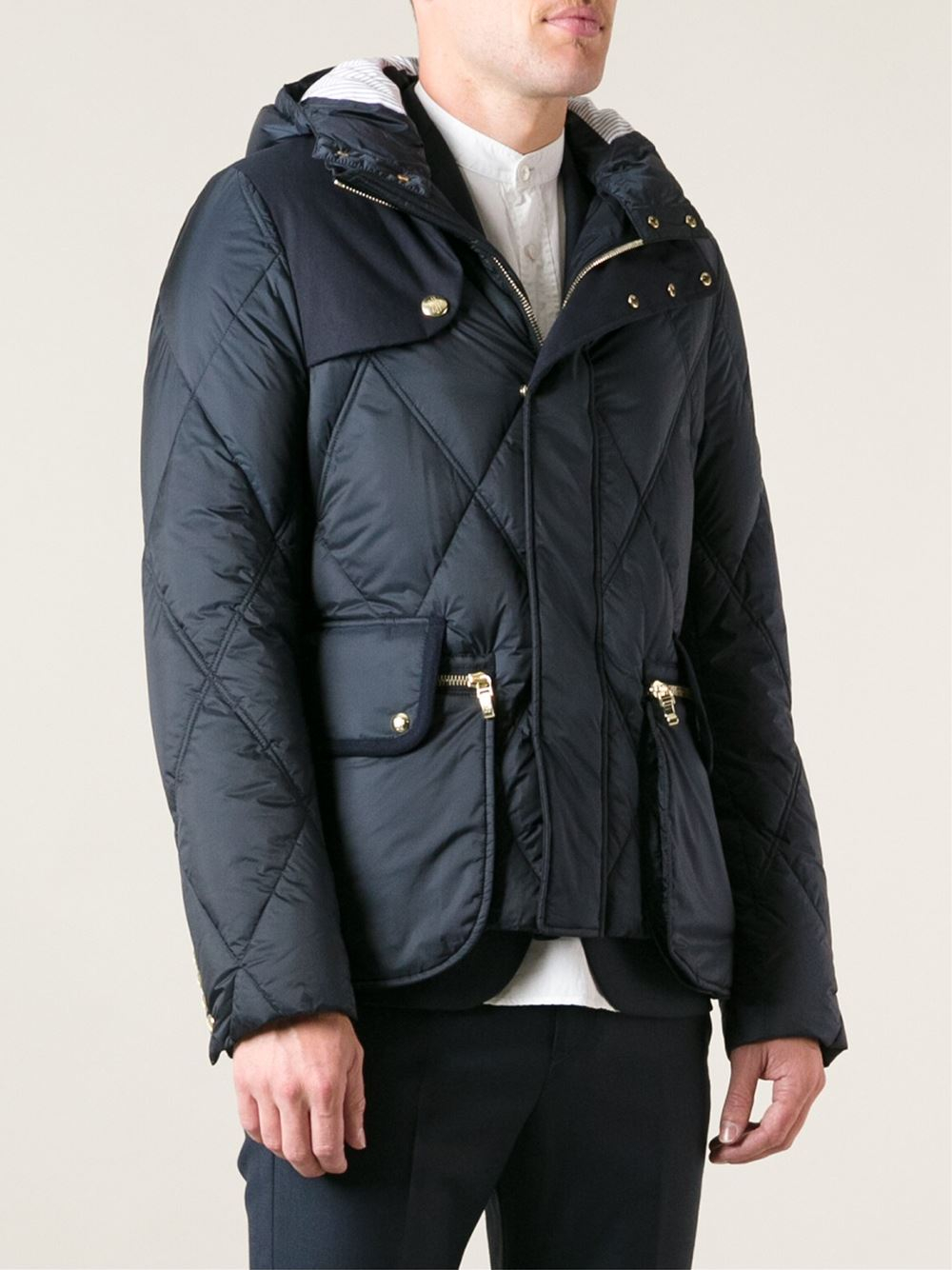 8c8f958e5d44 Lyst - Moncler Gamme Bleu Quilted Feather Down Jacket in Blue for Men