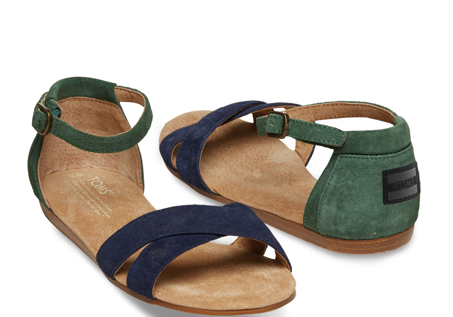 Lyst Toms Suede Womens Correa Sandals In Blue