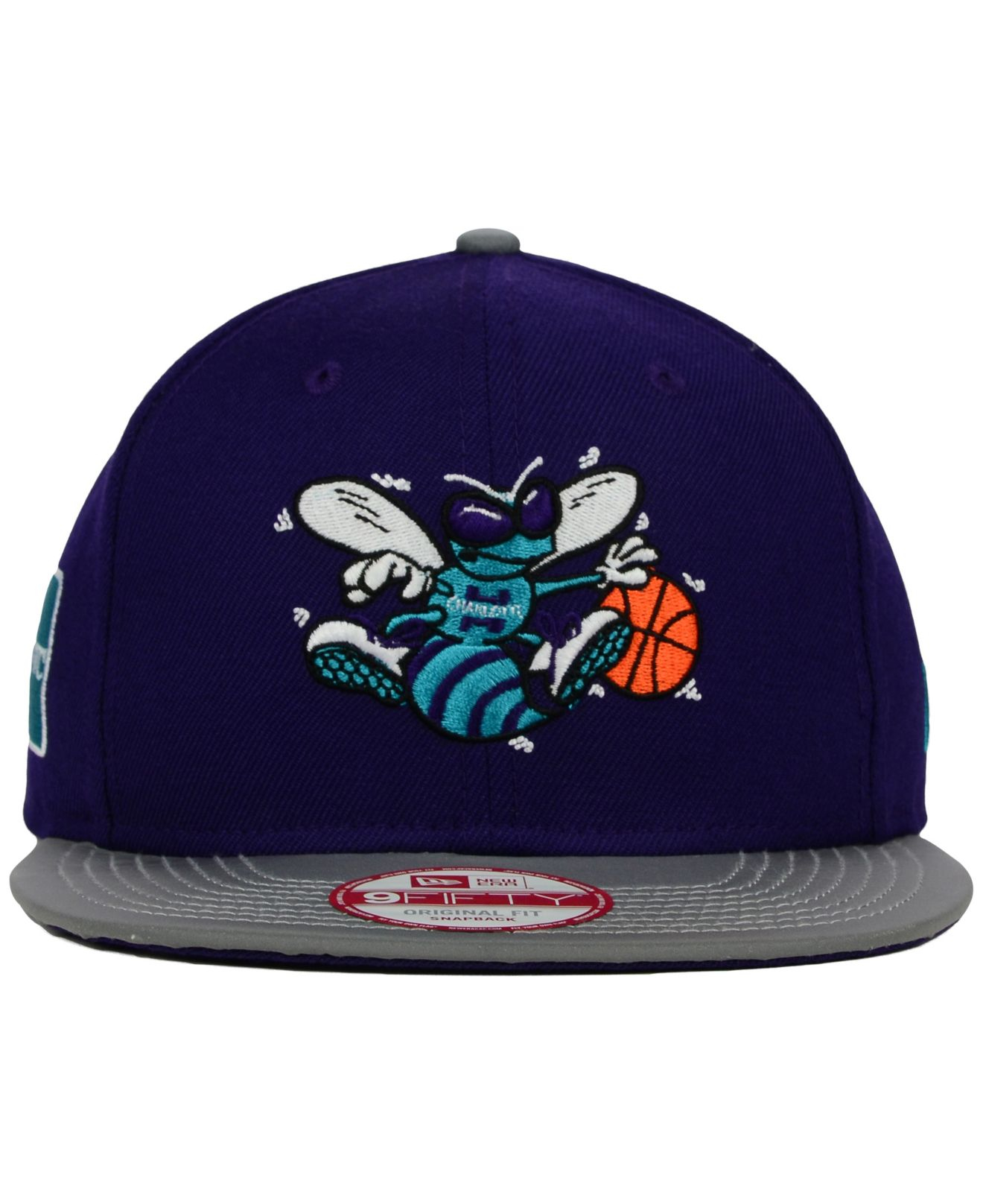 reputable site 50c45 7812c ... switzerland lyst ktz charlotte hornets reflect 9fifty snapback cap in  gray for men 91177 39f70