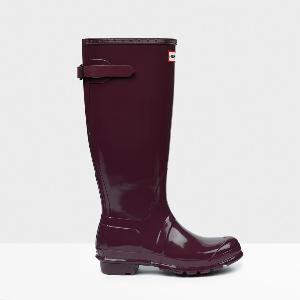 hunter purple original adjustable gloss rain boots lyst. Black Bedroom Furniture Sets. Home Design Ideas