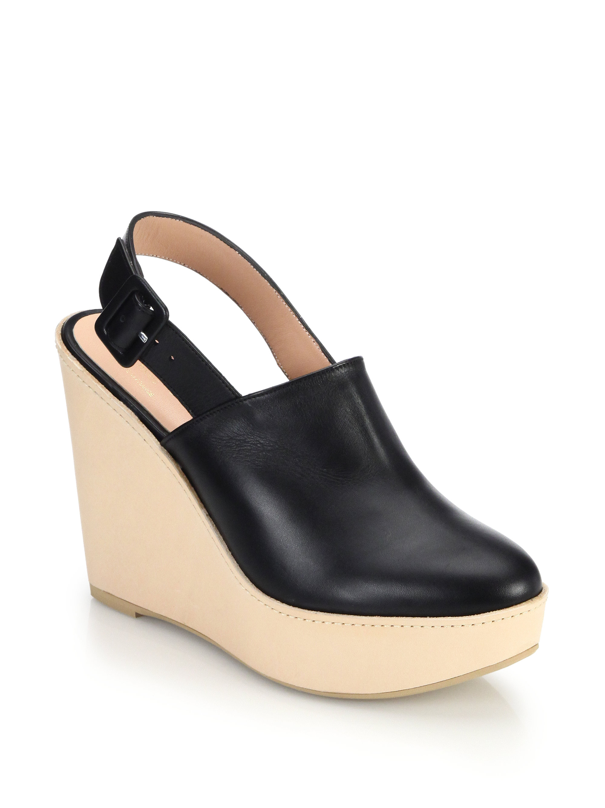 Black Wooden Platform Shoes
