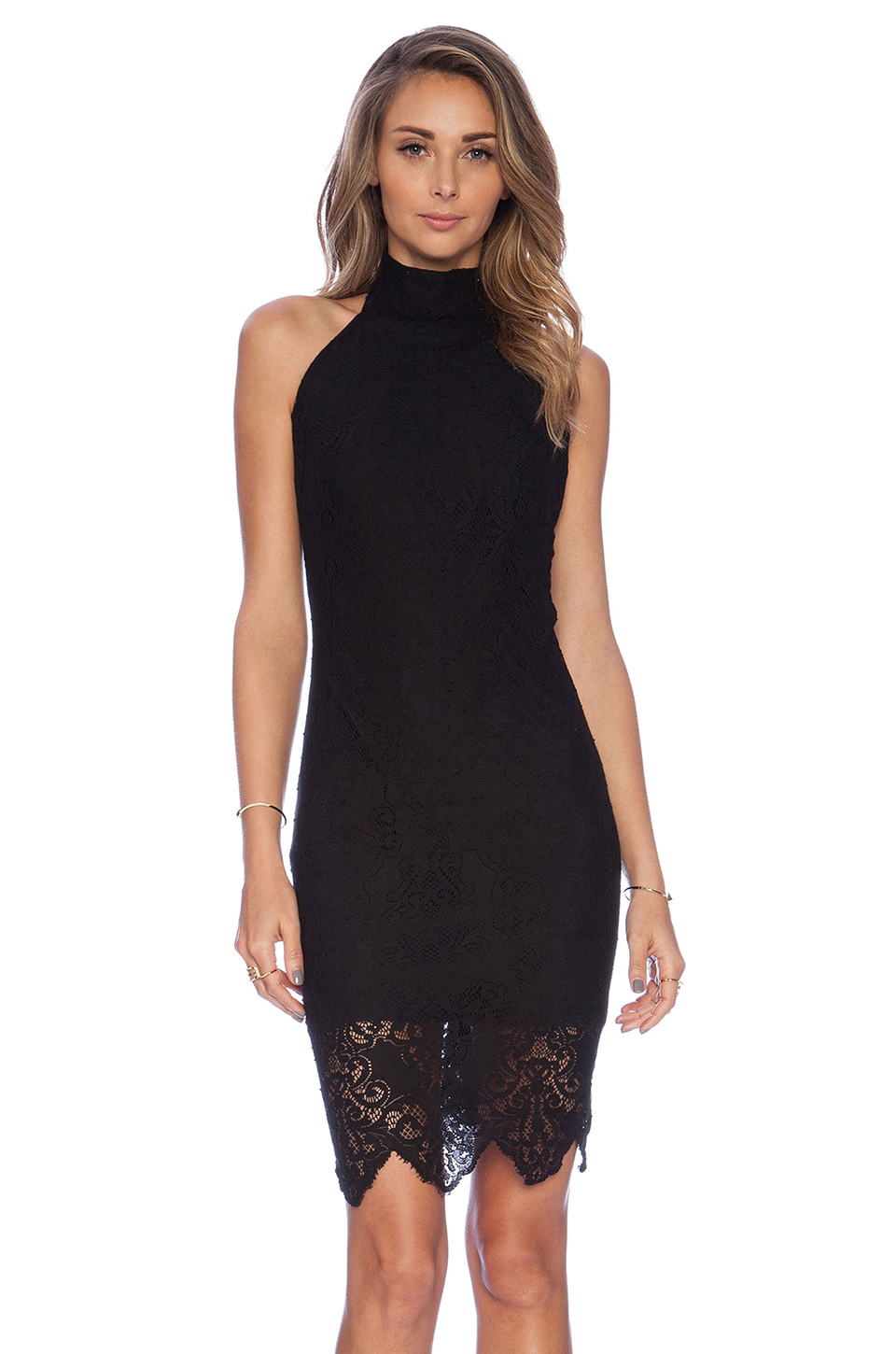 For love & lemons Take A Holiday Dress in Black | Lyst