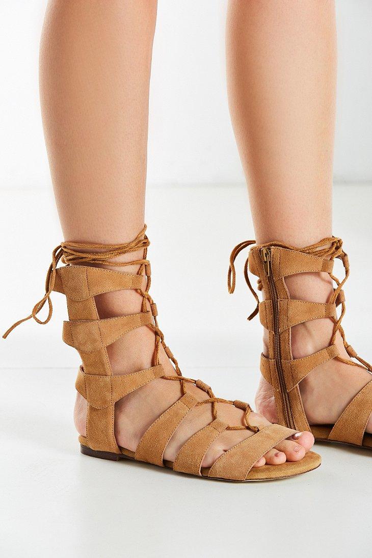 Lyst Jeffrey Campbell Redondo Gladiator Sandal In Brown