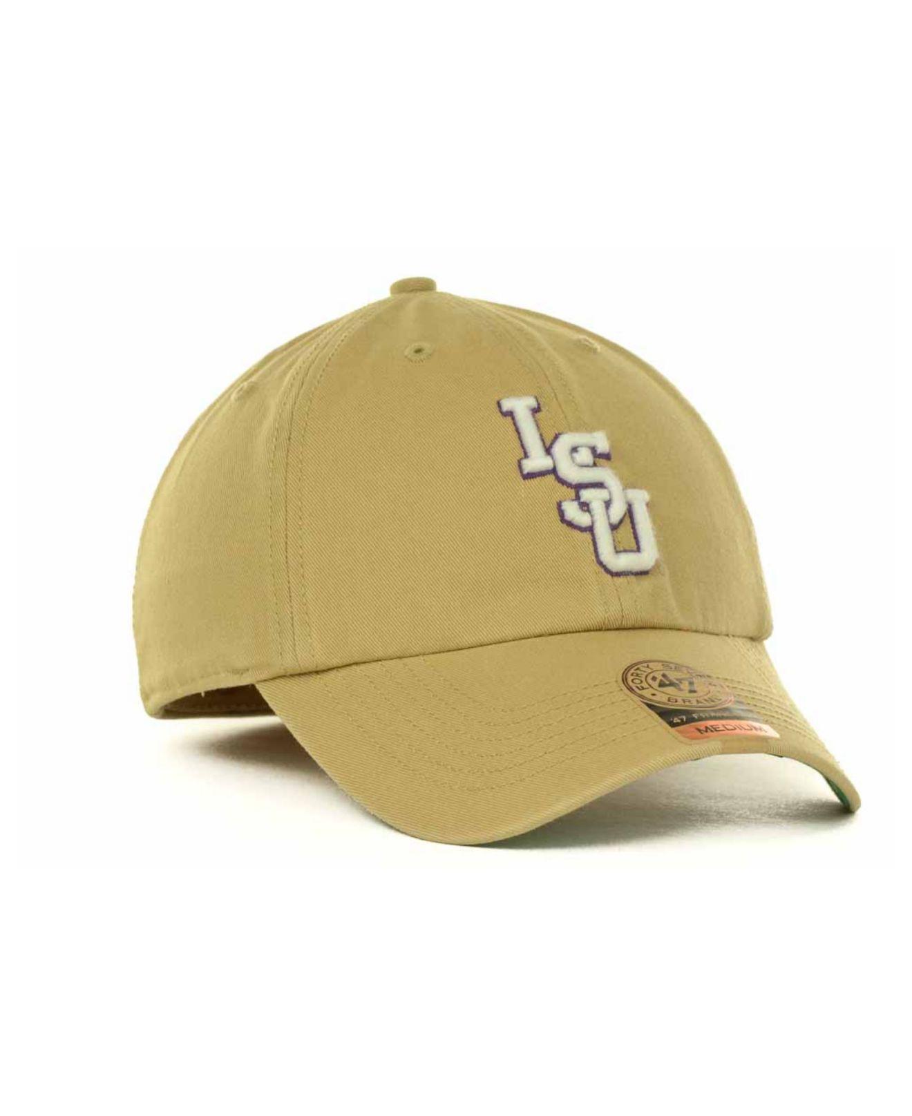 8cd5b17415d47 ... clearance lyst 47 brand lsu tigers khaki franchise cap in natural for  men b2676 43621