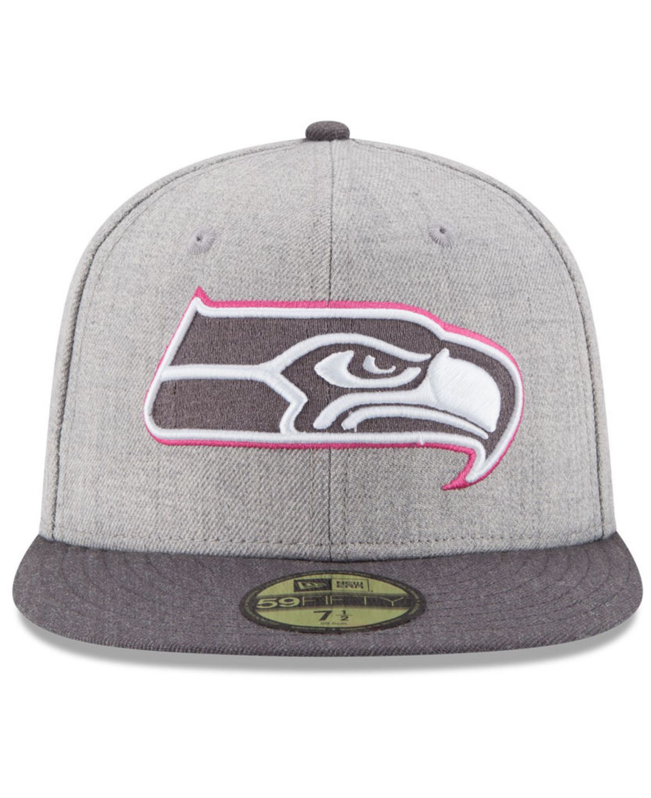 f01748cfe5194 KTZ Seattle Seahawks Breast Cancer Awareness 59fifty Cap in Pink for ...