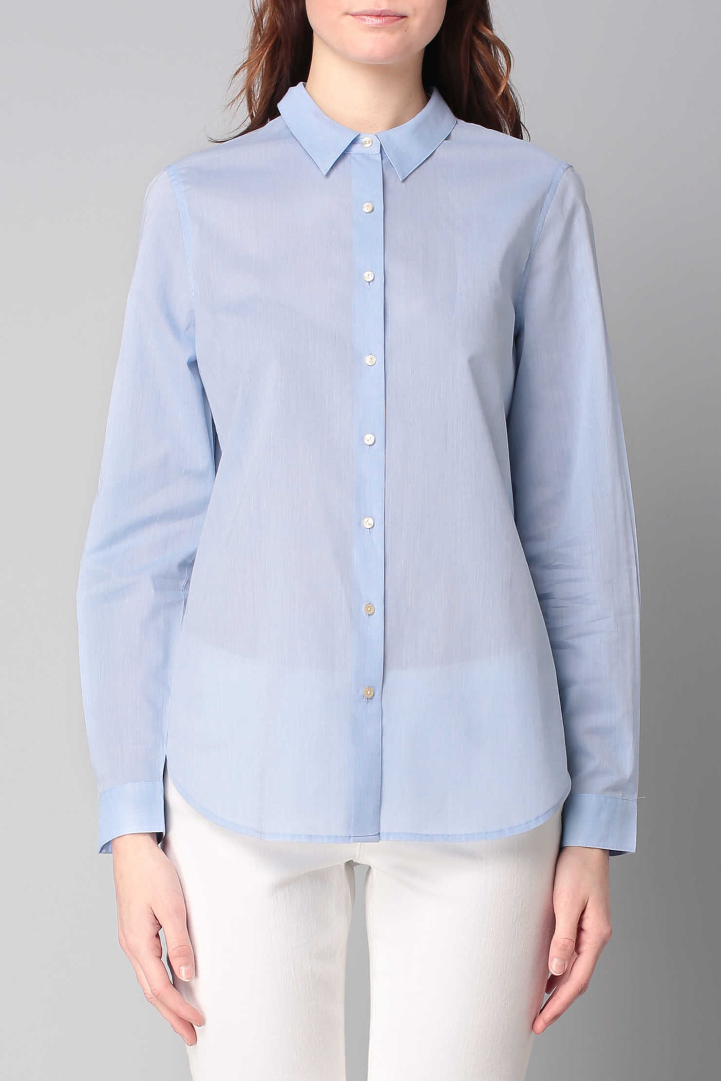 maison scotch shirt blouse in blue lyst. Black Bedroom Furniture Sets. Home Design Ideas