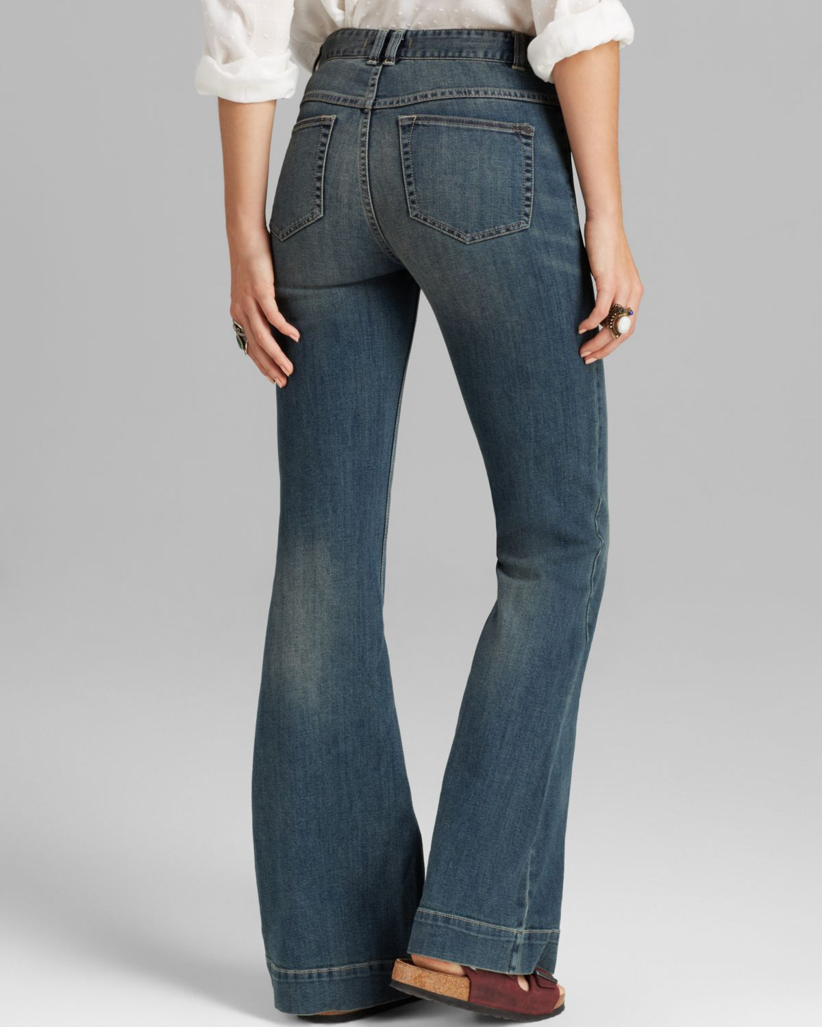 Lyst - Free People Jeans