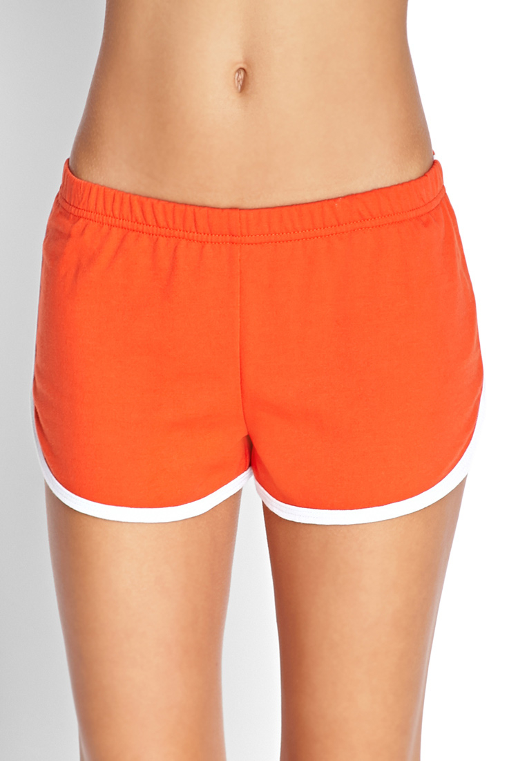 Forever 21 Sporty Dolphin Shorts in Red | Lyst