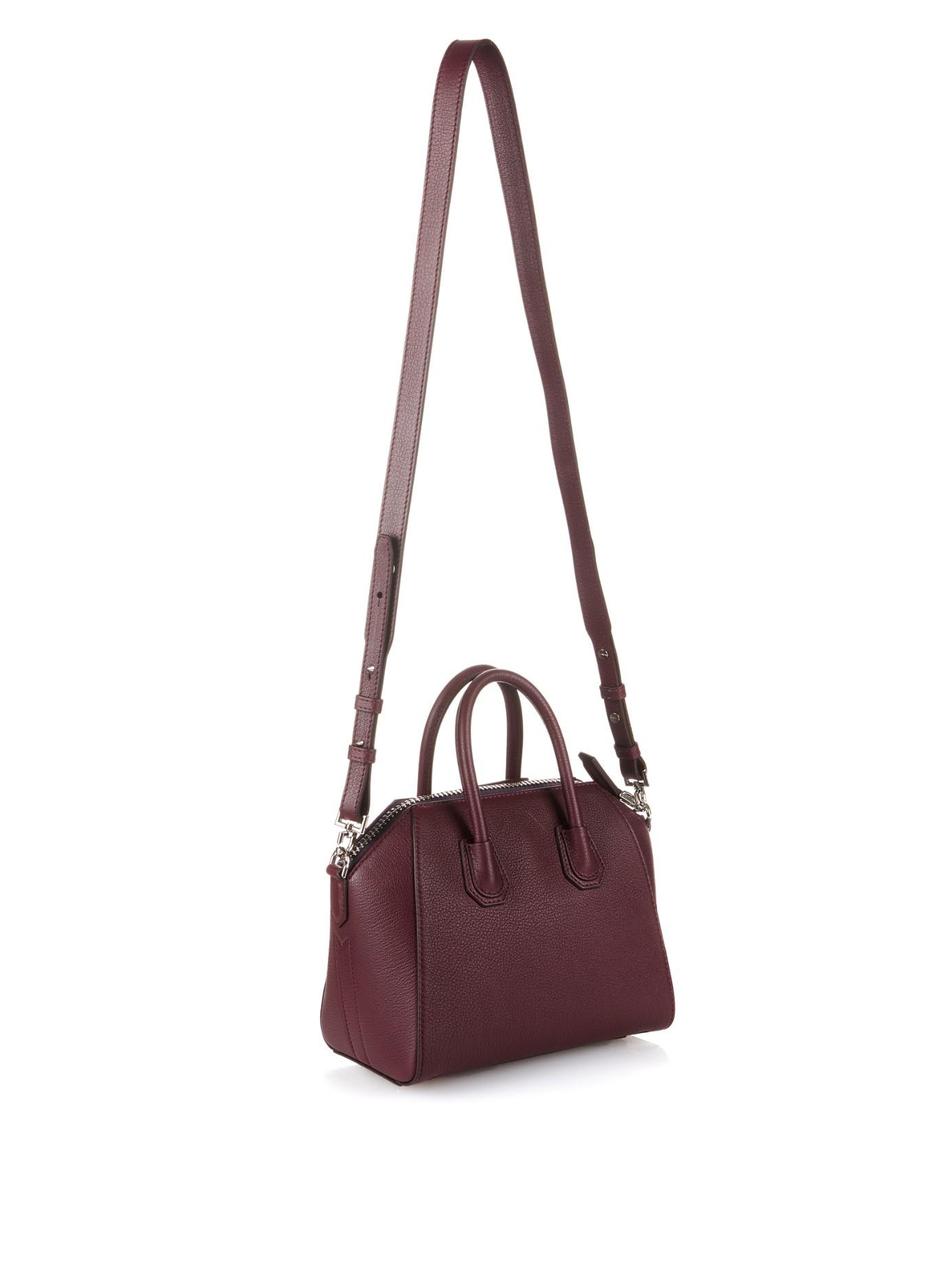 dbccaf6cca Givenchy Antigona Mini Leather Cross-Body Bag in Purple - Lyst