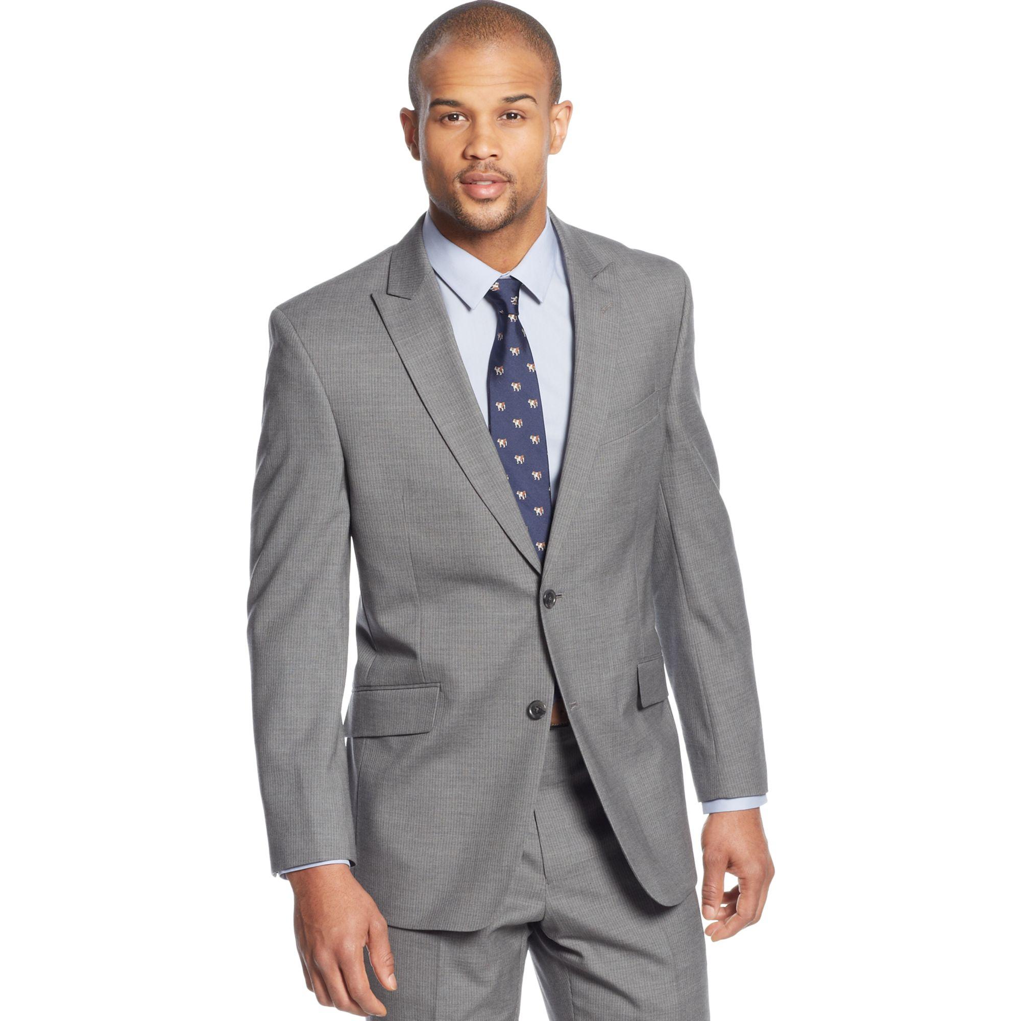 tommy hilfiger grey pinstripe suit – Maskbook