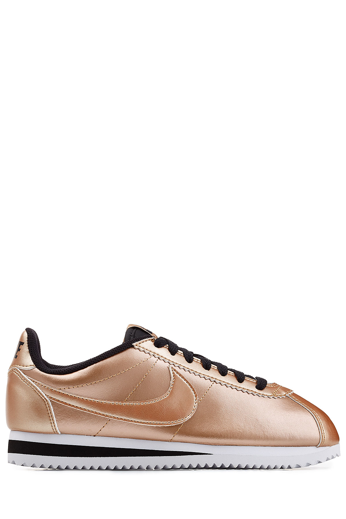 promo code af30a 19571 ... discount lyst nike classic cortez metallic leather sneakers rose in  pink 7db99 39a56