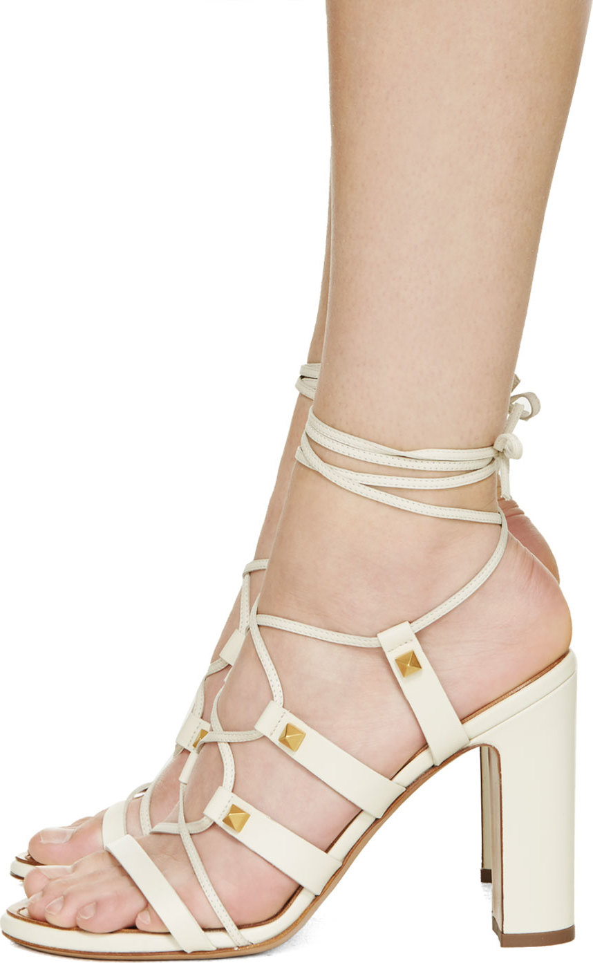 17b993adc39 Gallery. Previously sold at  SSENSE · Women s Valentino Gladiator Sandals  ...