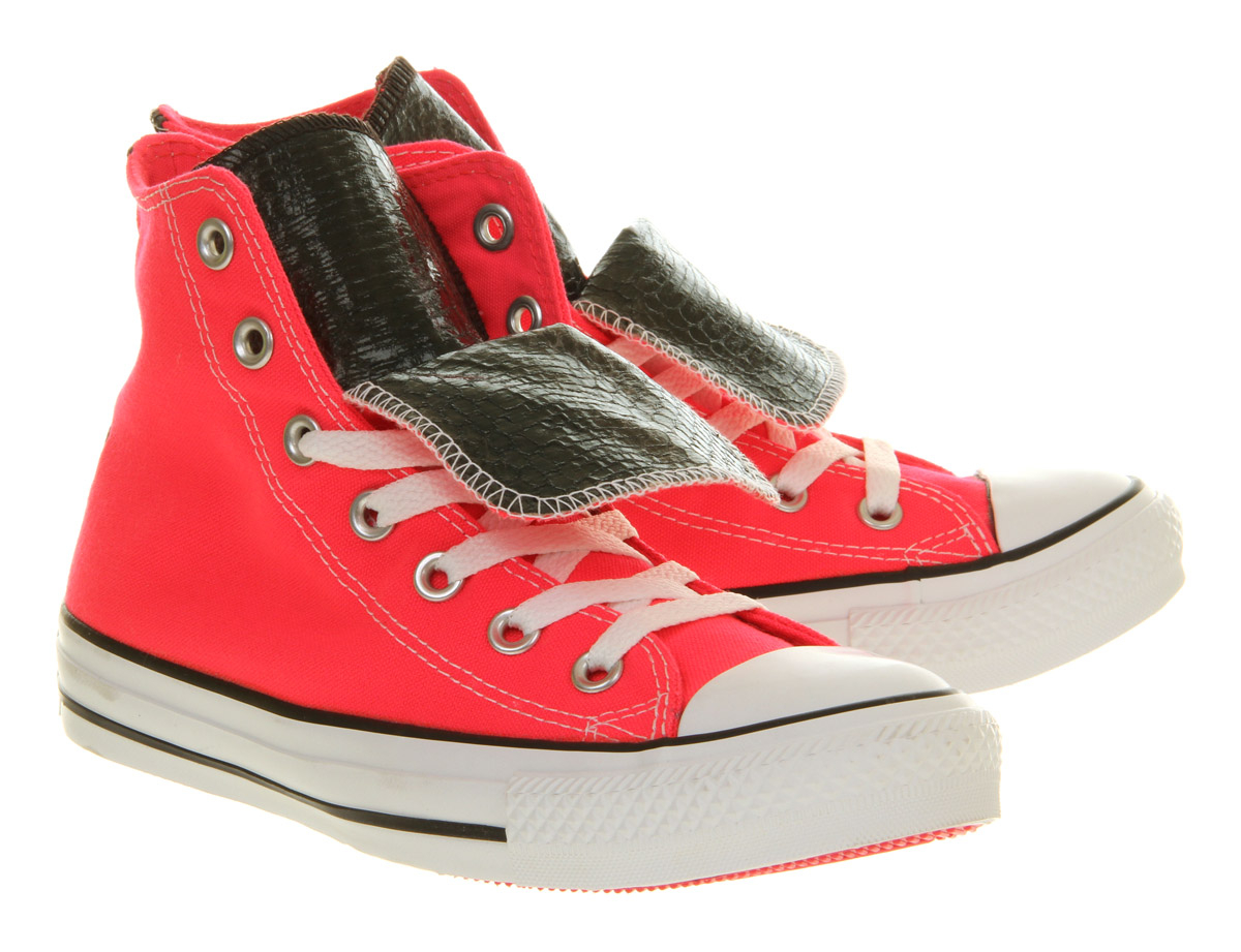 Converse All Star Hi Double Tongue Neon Pink Snake
