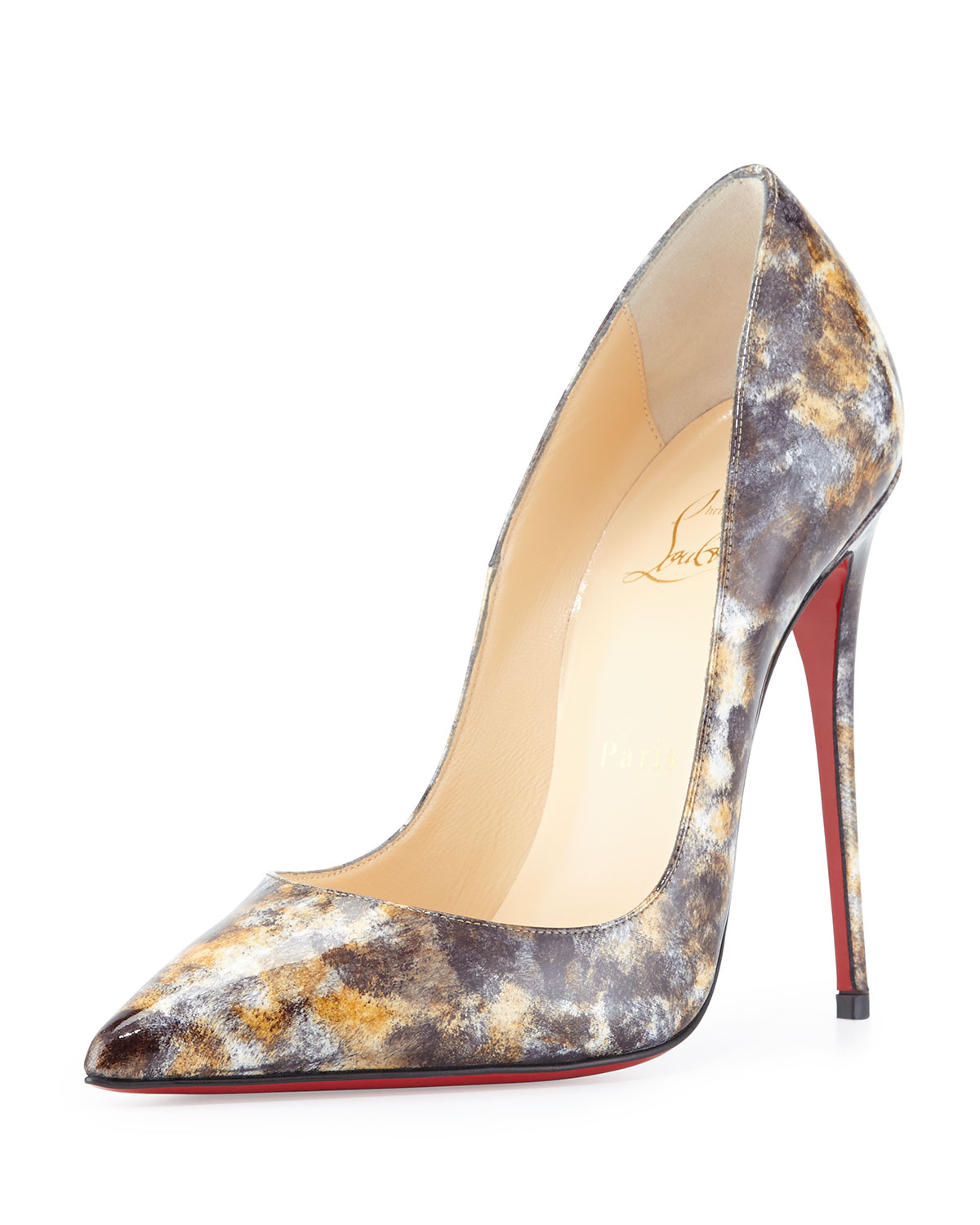men christian louboutin sneakers - Christian louboutin So Kate Mouchette Red Sole Pump in Multicolor ...