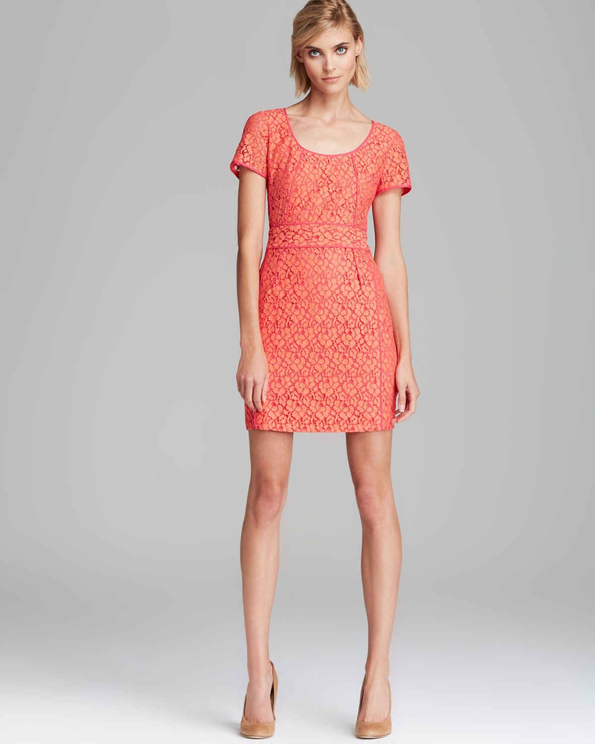 Lyst Marc By Marc Jacobs Dress Luna Lace In Red