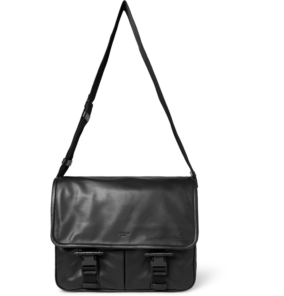 Givenchy Obsedia Leather Messenger Bag in Black for Men - Lyst 04238c2f4198a