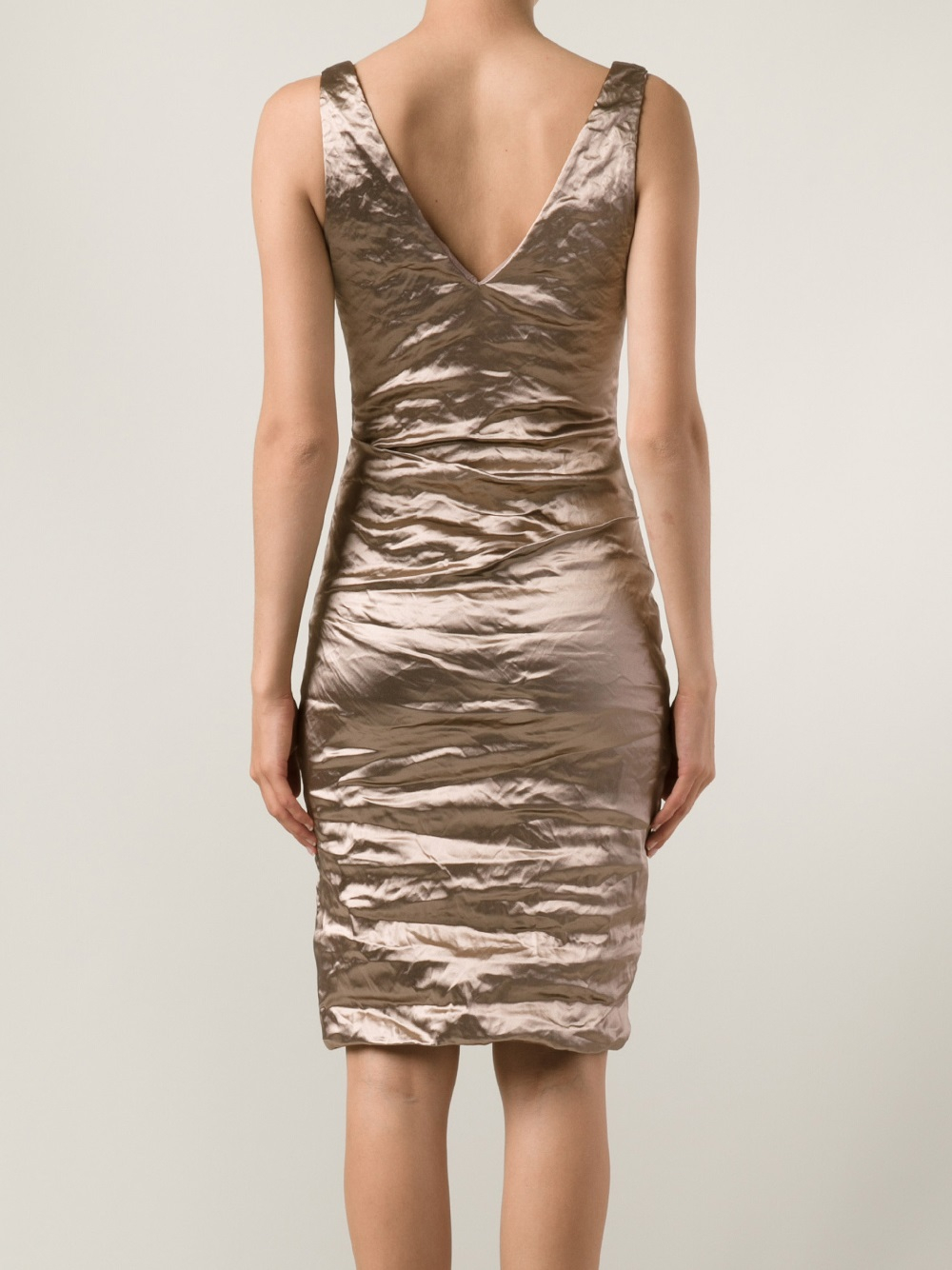 Nicole miller Cocktail Dress in Metallic | Lyst