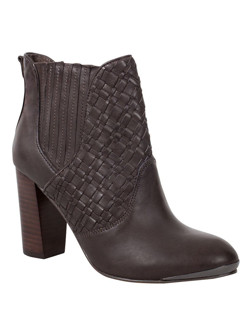 elliott lucca dina high heel leather boots in gray lyst