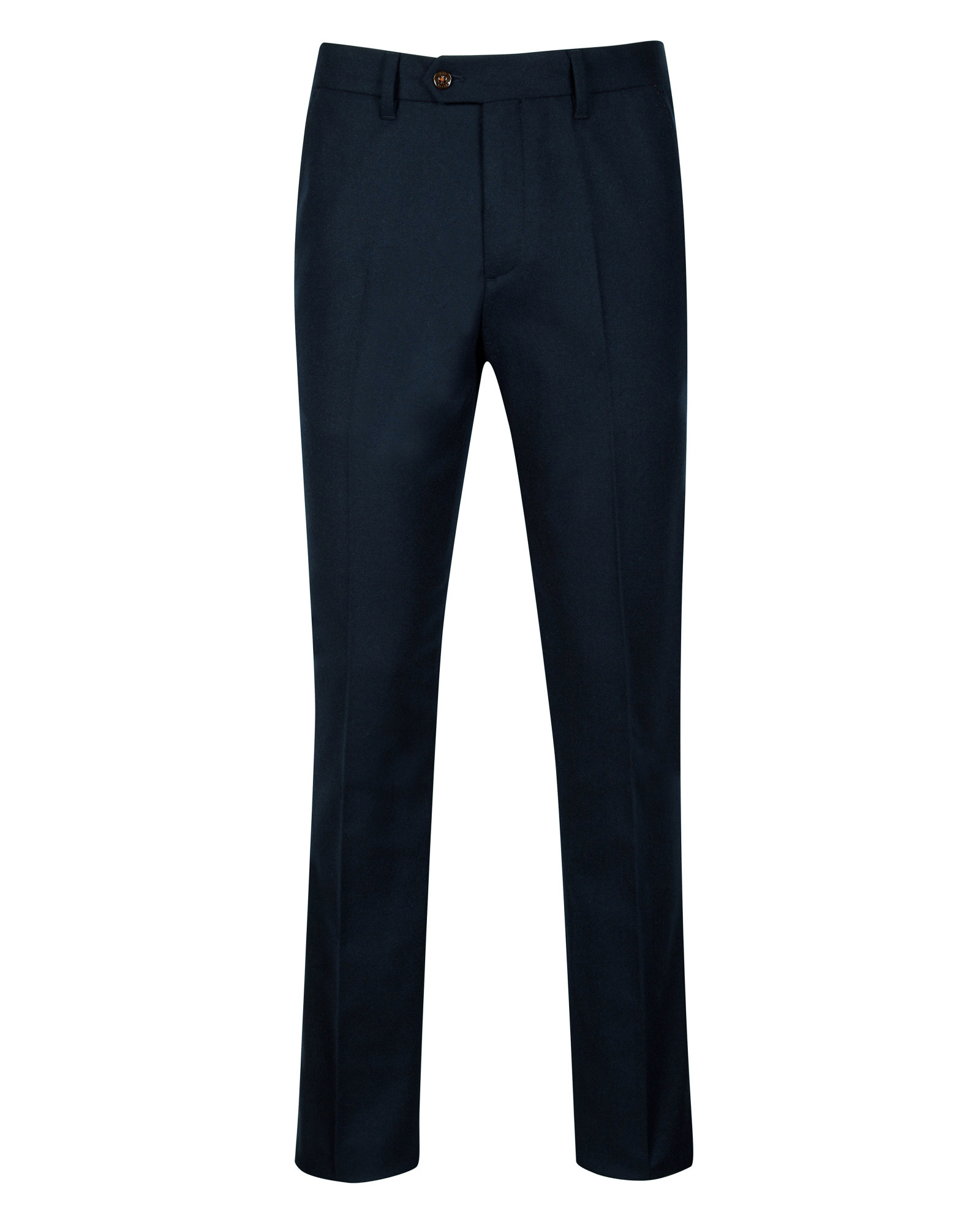 Lyst Ted Baker Wool Flannel Trousers In Blue For Men