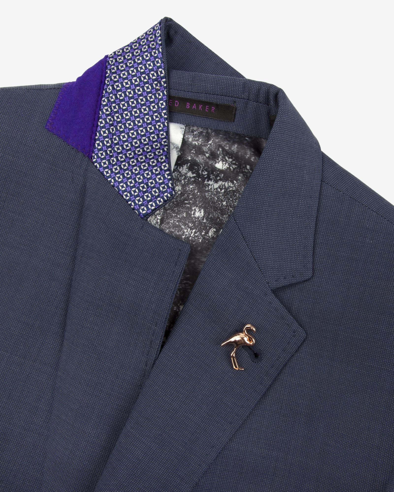 24f35f660 Ted Baker Sterling Wool Suit Jacket in Blue for Men - Lyst
