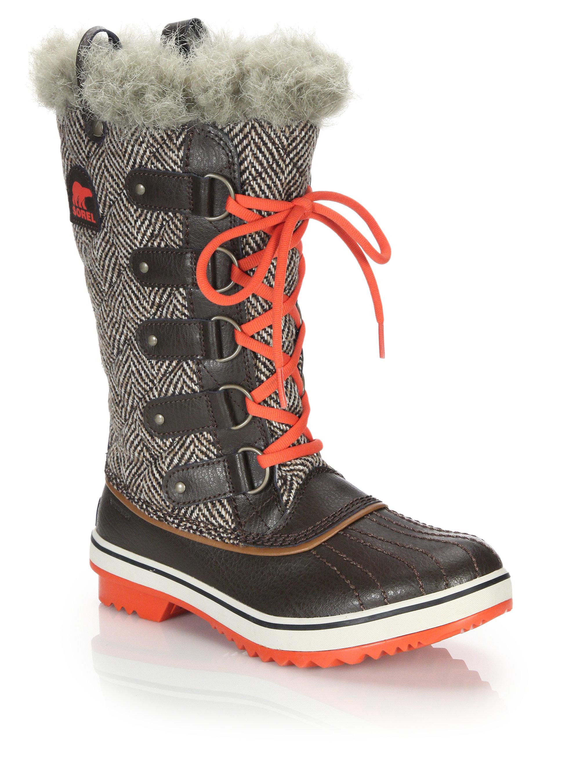 Lyst - Sorel Tofino Herringbone Water-Resistant Boots in ...