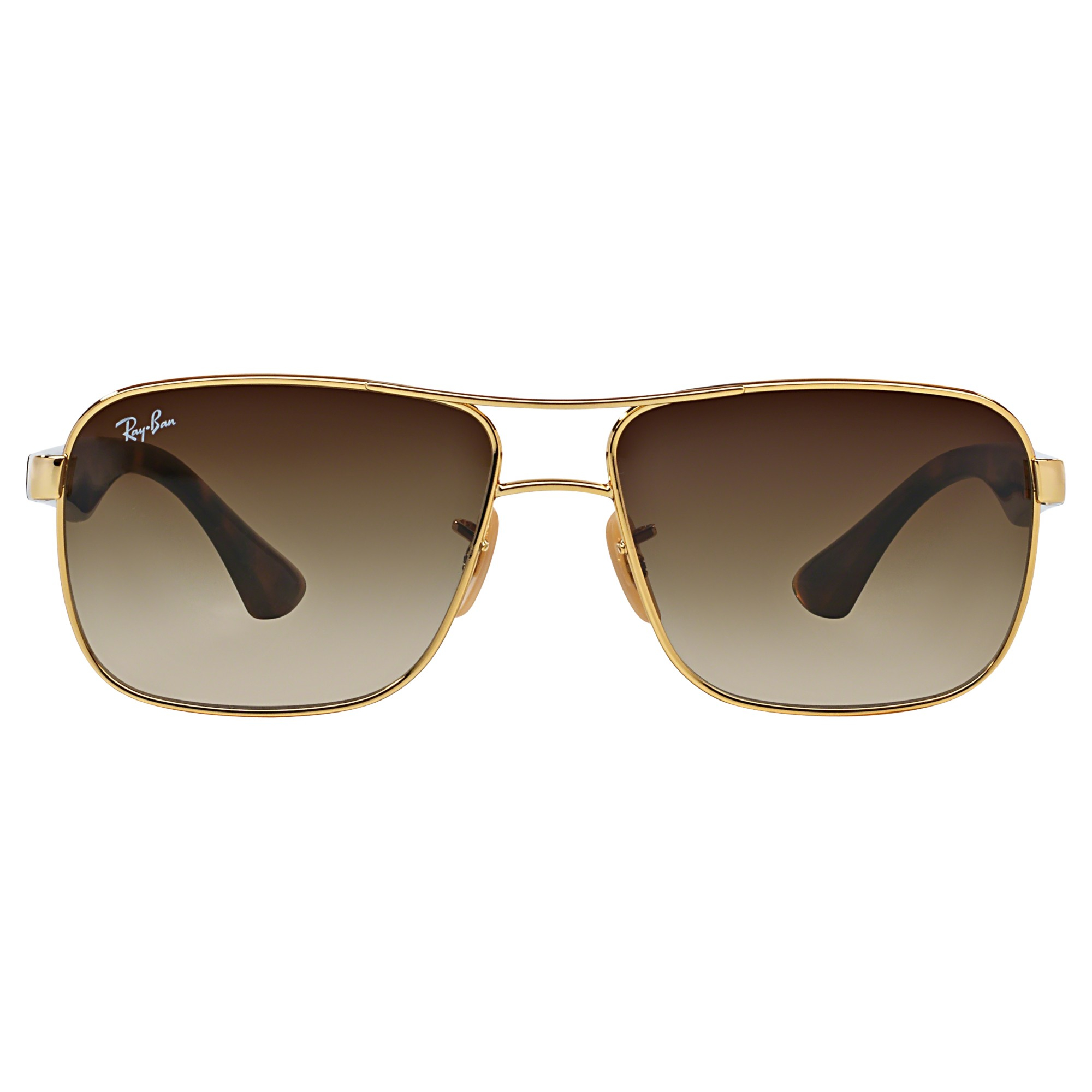 Ray-Ban Rb3516 Square Frame Sunglasses in Metallic - Lyst