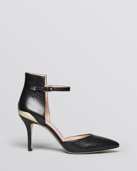 Enzo Angiolini Pointed Toe Pumps Caswell in Black - Lyst