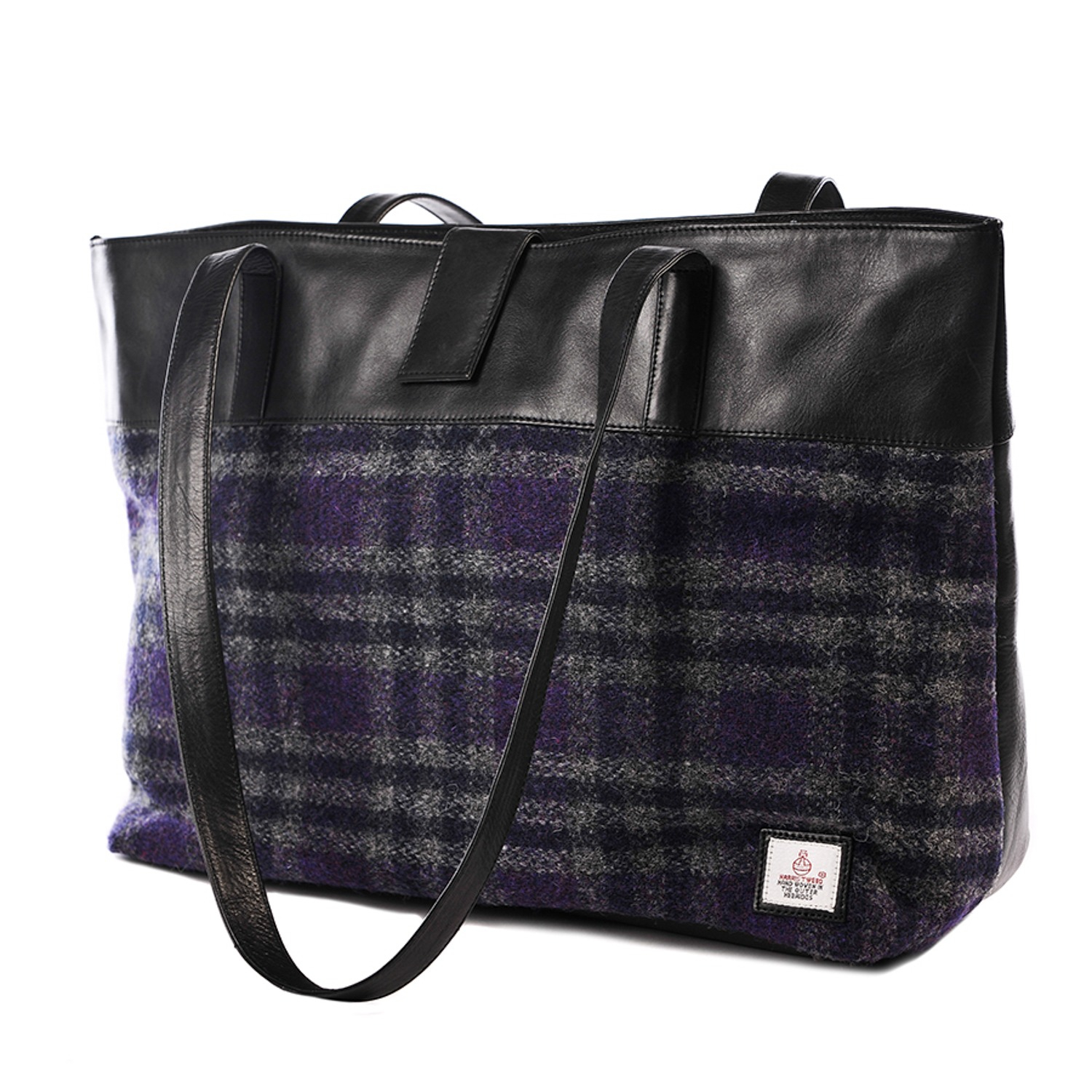 286aaeabe6b1 Lyst - Maccessori Purple Harris Tweed Tote Bag in Blue