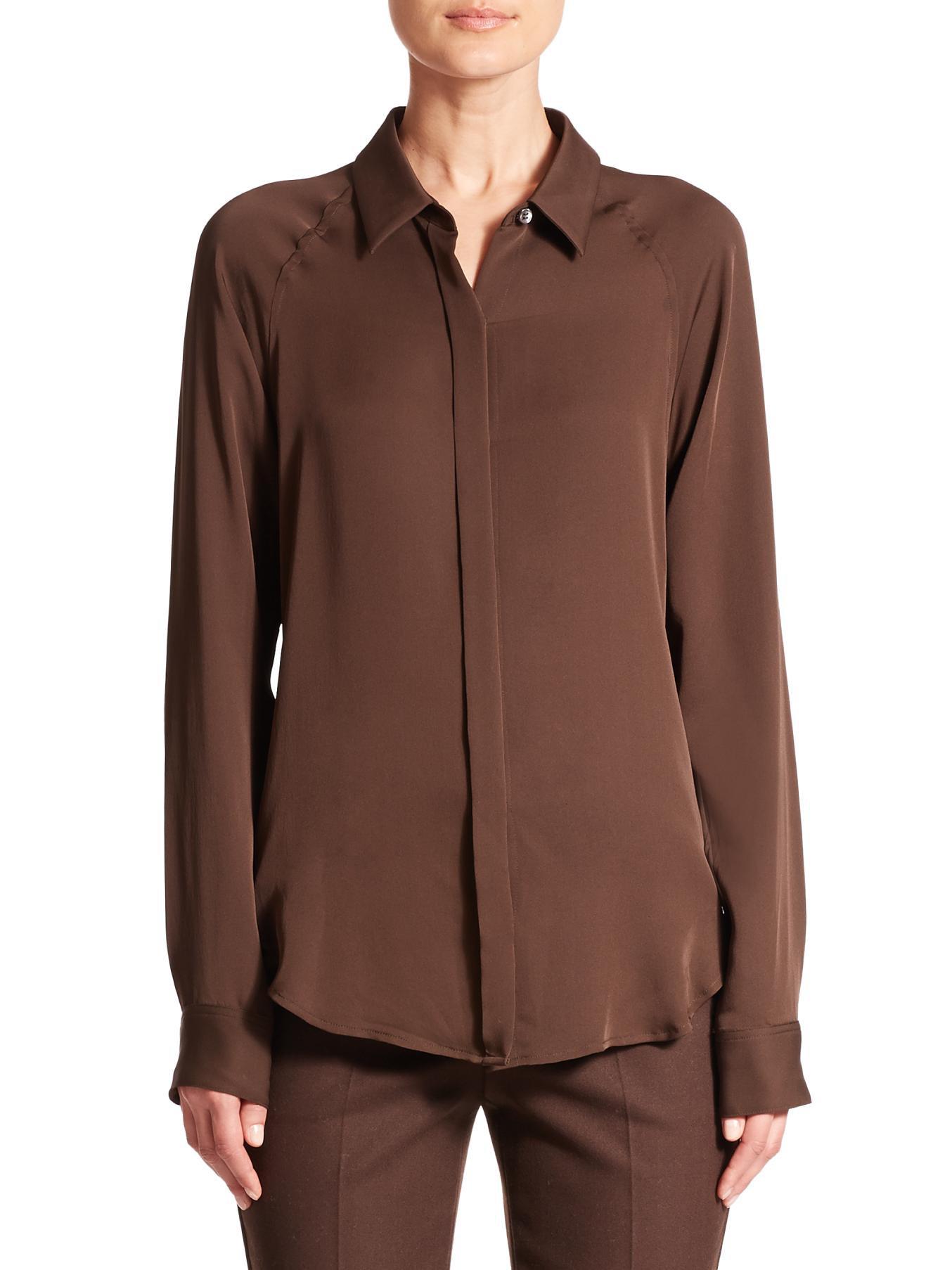 Womens Silk Tops Blouses