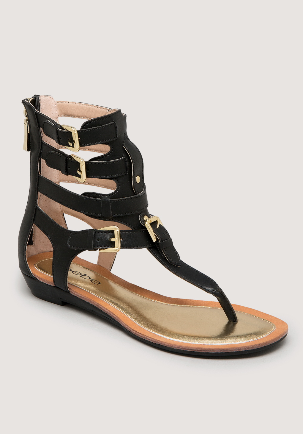 8952f83e47d Lyst - Bebe Dilara Gladiator Sandals in Black