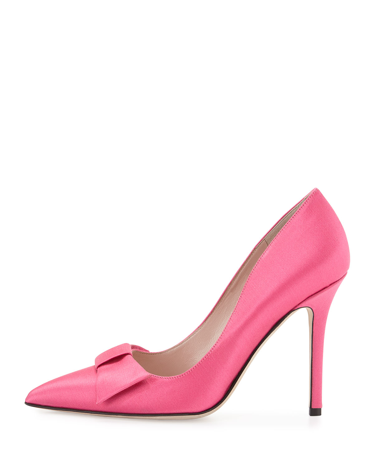 879bd6d2a68 Lyst - Kate Spade Layla Satin Bow Pumps in Pink