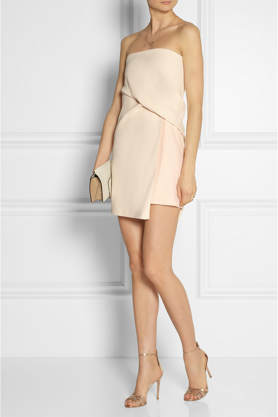 Narciso rodriguez Draped Crepe Dress in Pink