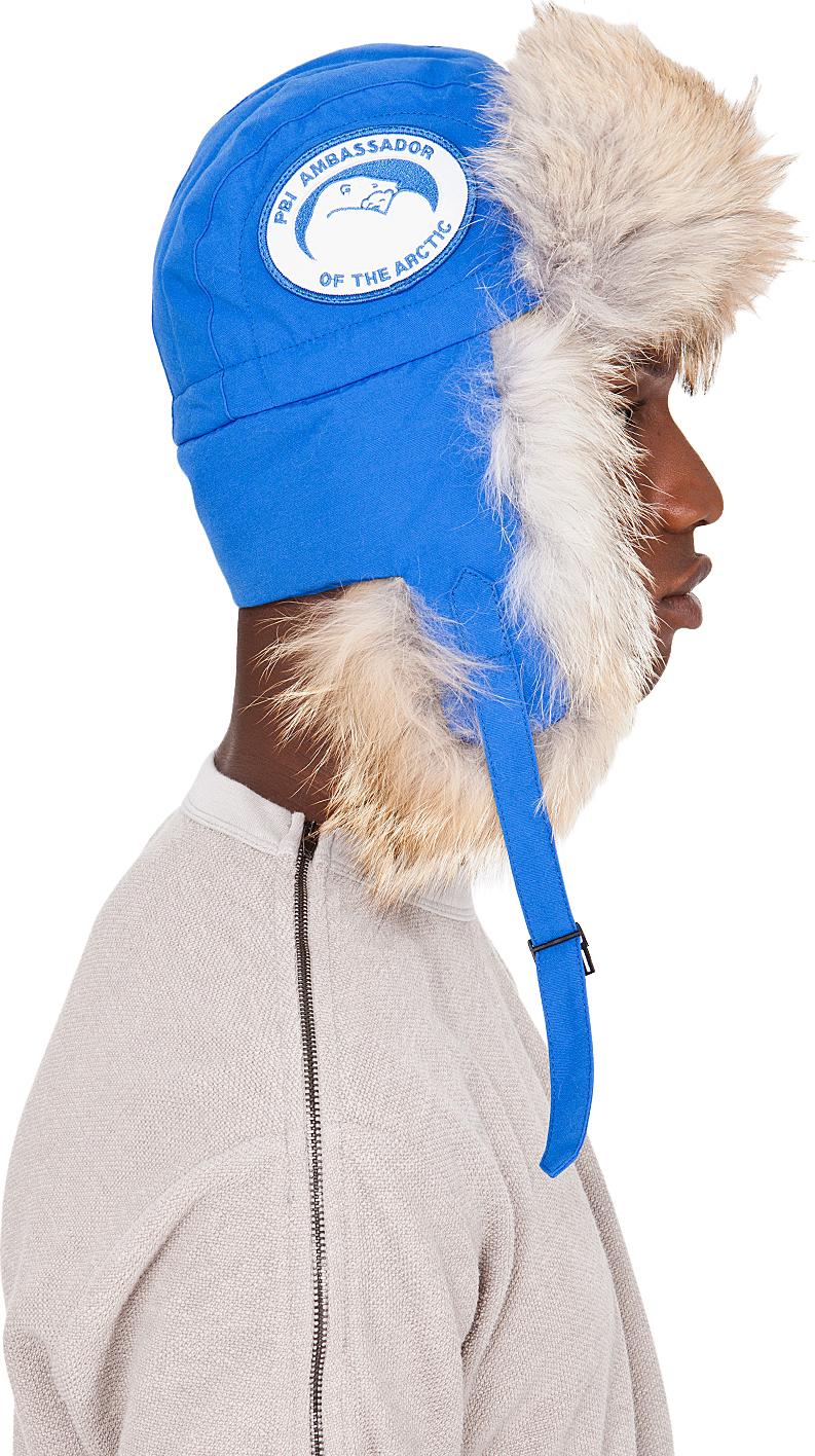 Lyst Canada Goose Blue Coyote Fur Aviator Hat In Blue