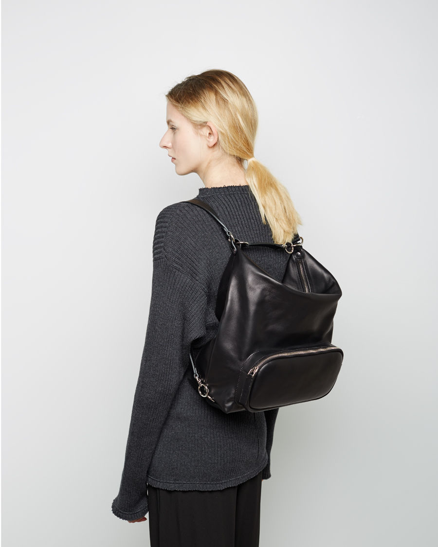 Marni Convertible Leather Backpack in Black for Men | Lyst