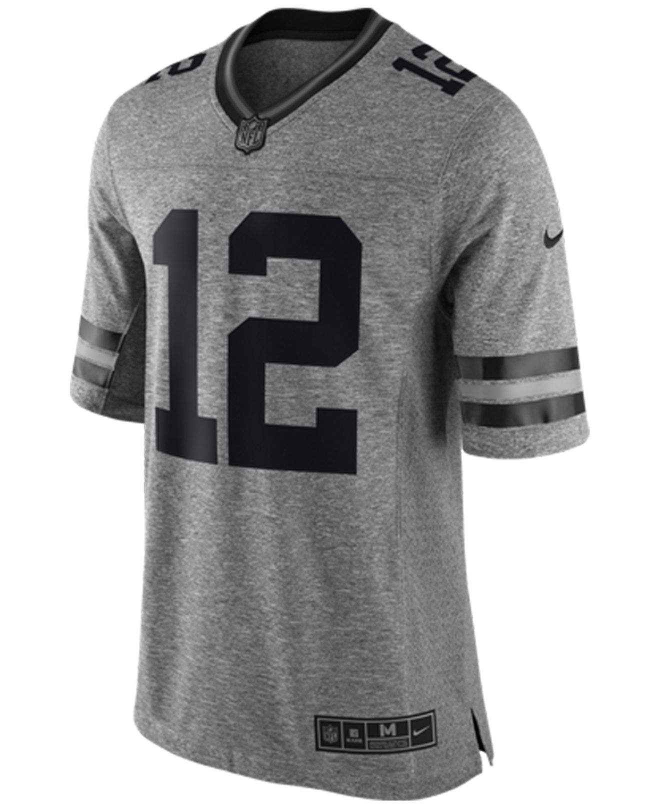 Nike Men's Aaron Rodgers Green Bay Packers Gridiron Jersey in Gray ...