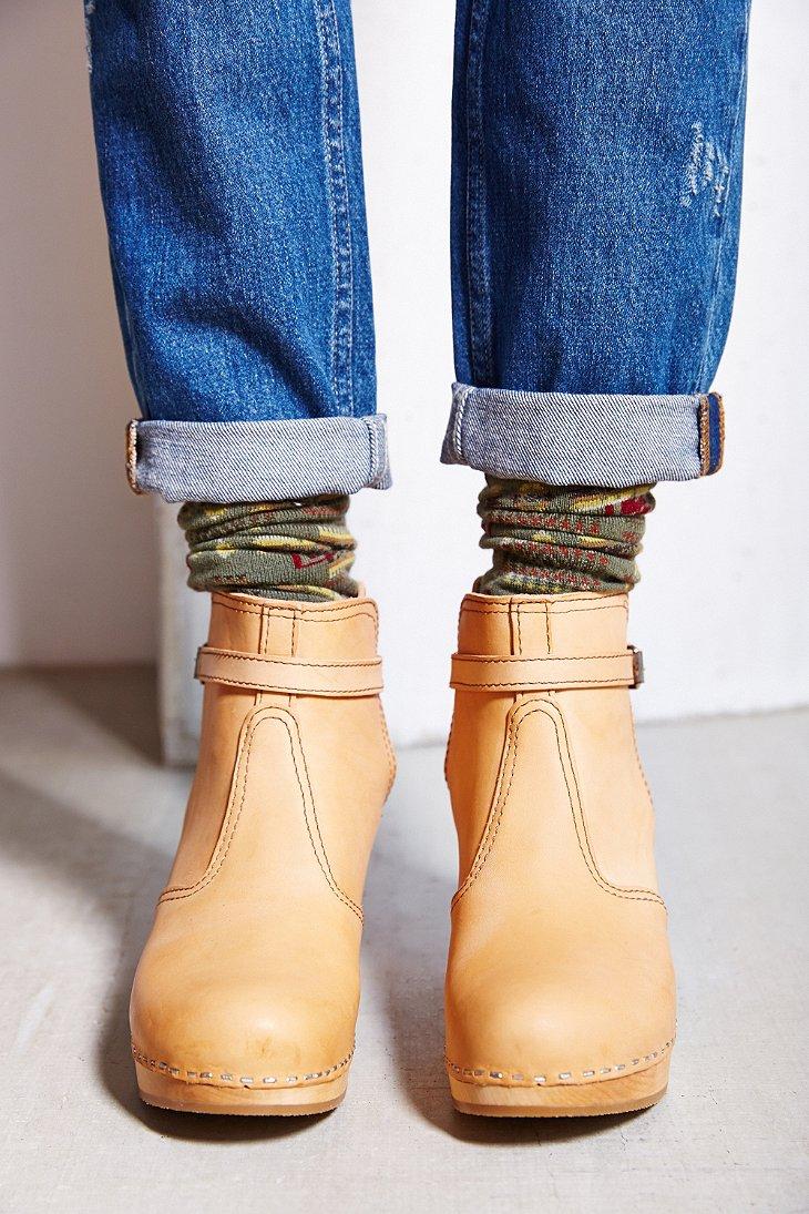 Swedish Hasbeens Jodhpur Boot In Natural Lyst