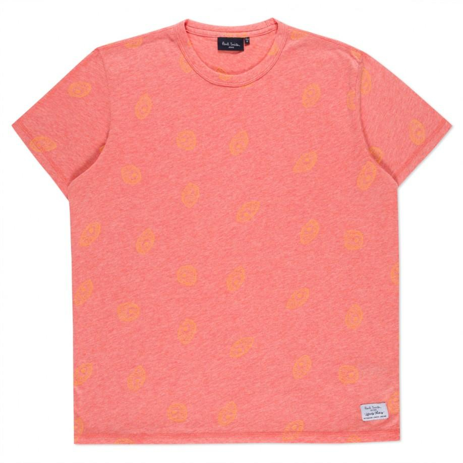 Paul Smith Men's Coral-marl Eye Jacquard T-shirt In Pink