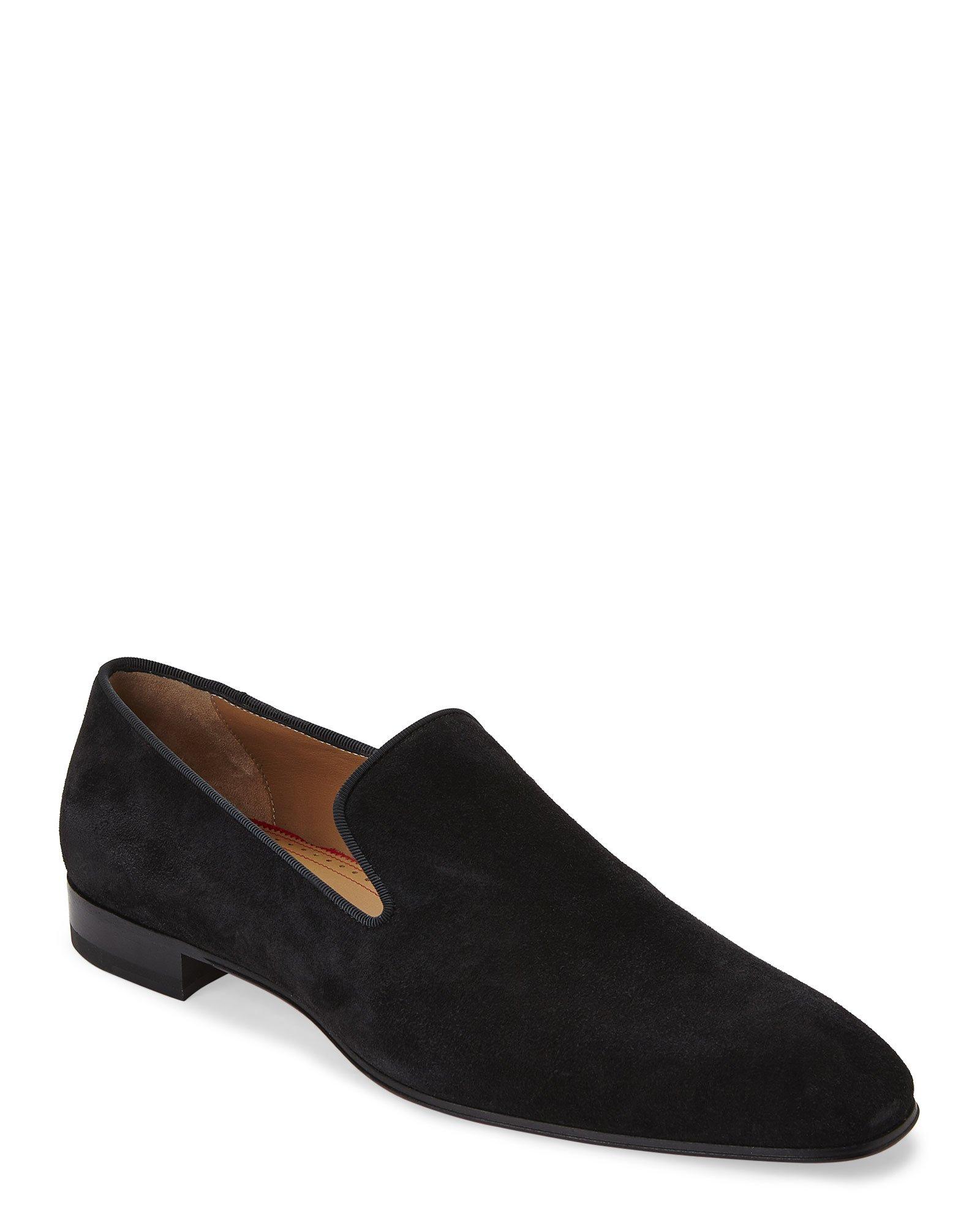 d3bfbb693b5 Lyst - Christian Louboutin Black Dandelion Smoking Loafers in Black ...