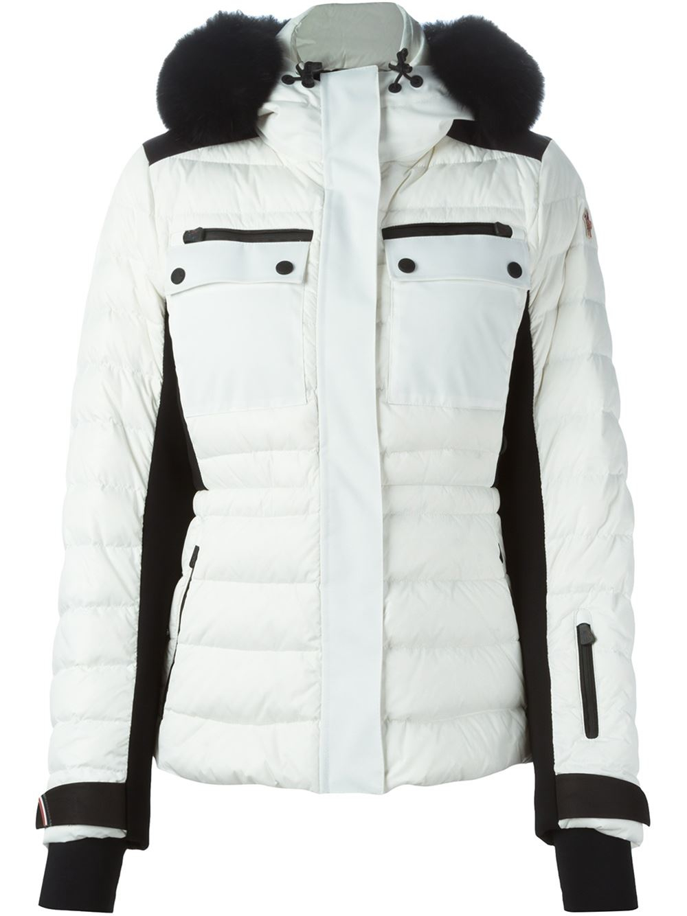 moncler black and white jacket