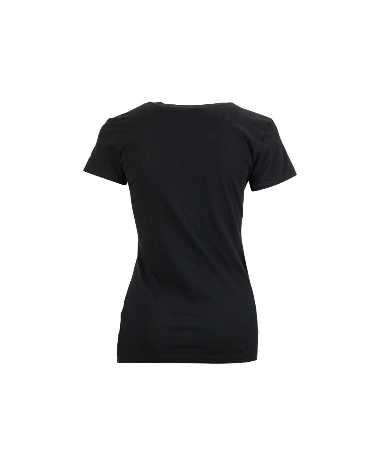 Lyst soffe women 39 s iowa hawkeyes v neck t shirt in black for Womens black v neck t shirt