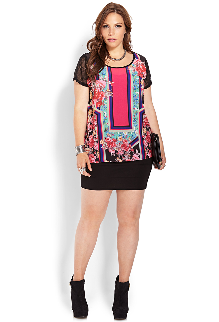 896f9d24df8 Lyst - Forever 21 Plus Size Ornate Floral   Lace Blouse You ve Been ...