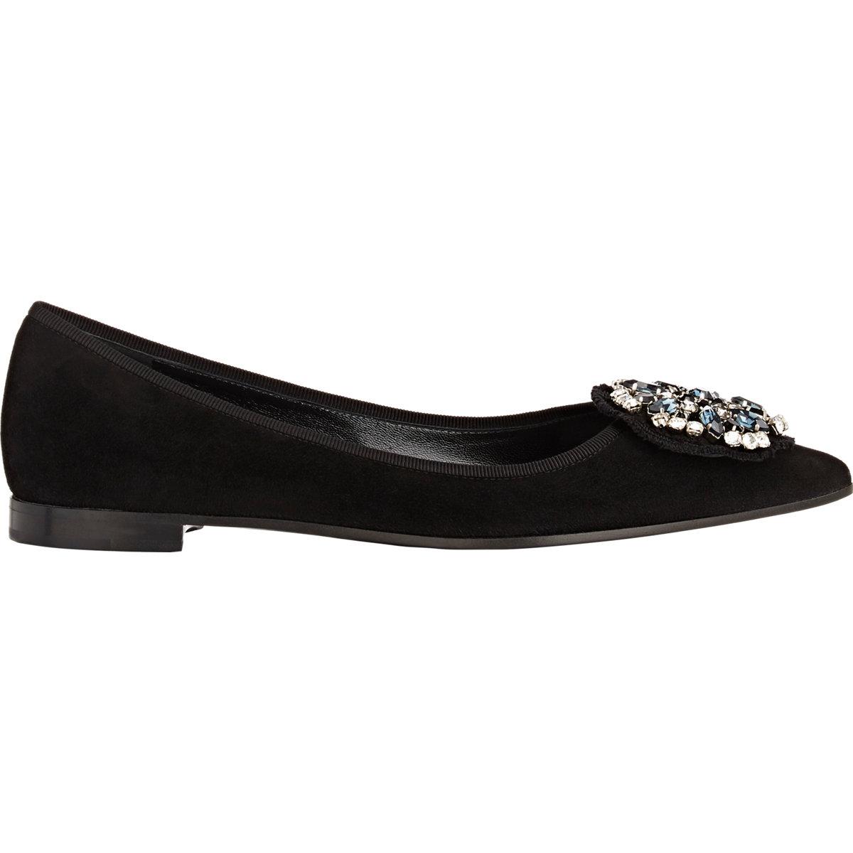 Prada Embellished Leather Flats footlocker pictures for sale footlocker finishline sale online u1EtWkJm